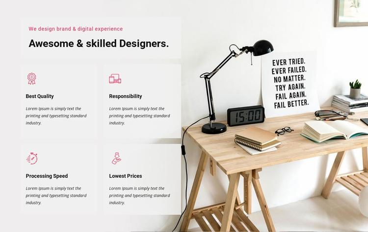 We design digital experience Landing Page
