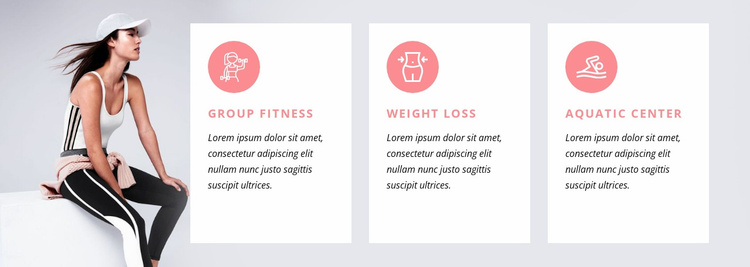 Fitness programs and specialty classes Website Template