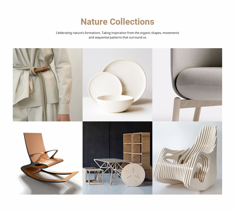 Interior nature collections  Web Page Designer