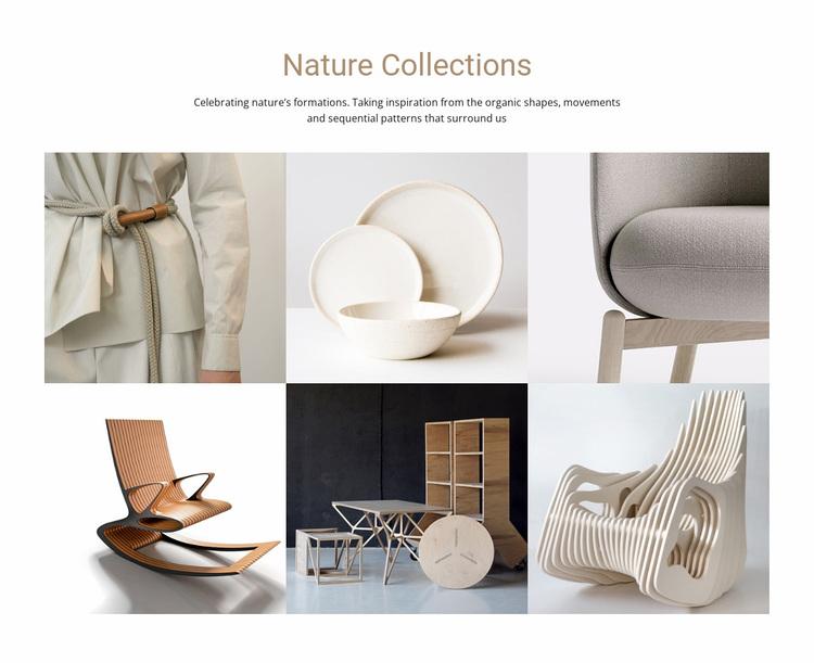 Interior nature collections  Website Design