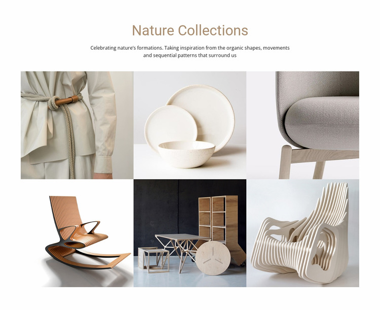 Interior nature collections  Website Mockup