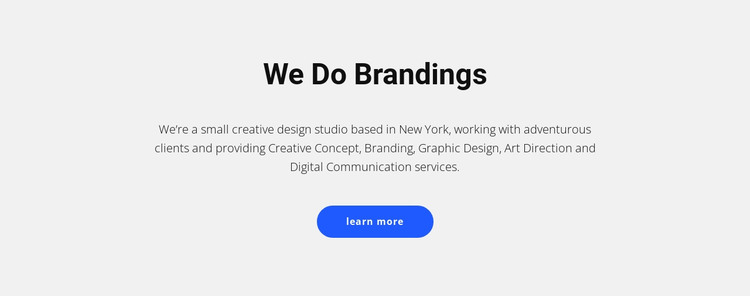 For brands that sell stuff HTML Template