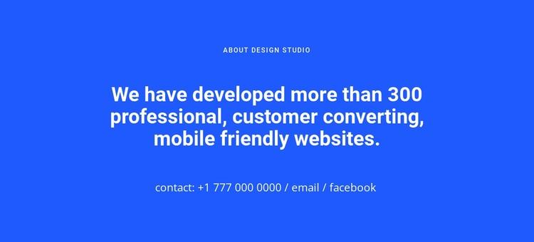 Mobile friendly websites Static Site Generator
