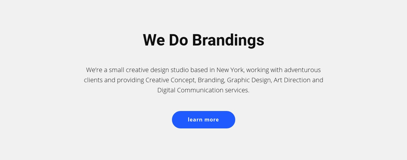 For brands that sell stuff Web Page Design
