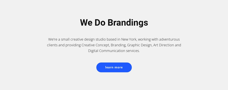 For brands that sell stuff Website Template