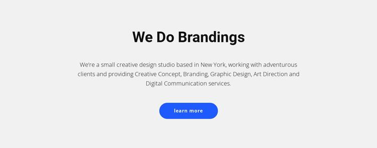 For brands that sell stuff WordPress Theme
