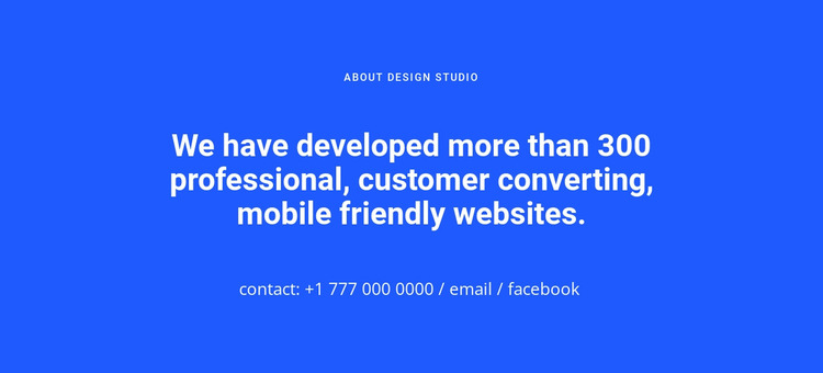 Mobile friendly websites WordPress Website Builder