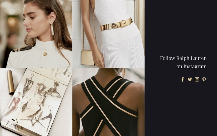 Gold fashion accessories HTML Template