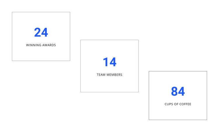 Creative counters design HTML Template