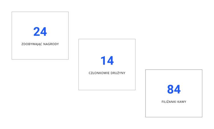 Kreatywne projektowanie liczników Szablon witryny sieci Web