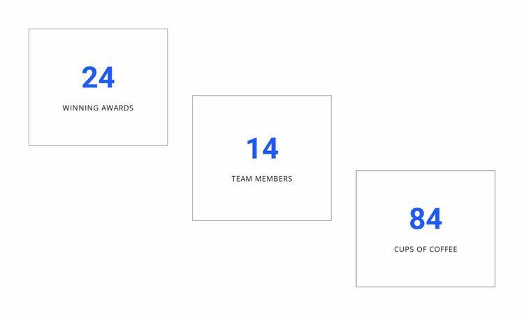 Creative counters design Website Mockup