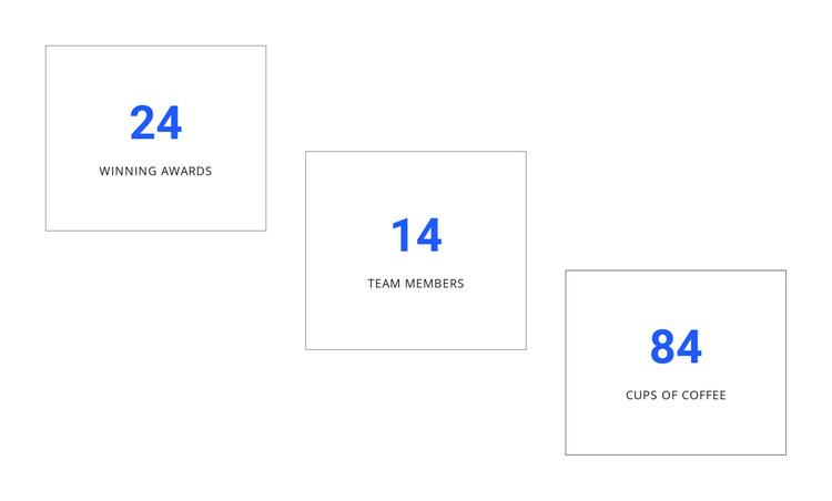 Creative counters design WordPress Theme