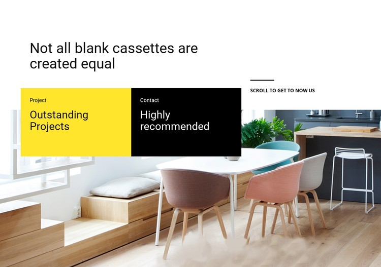 Outstanding interior projects CSS Template