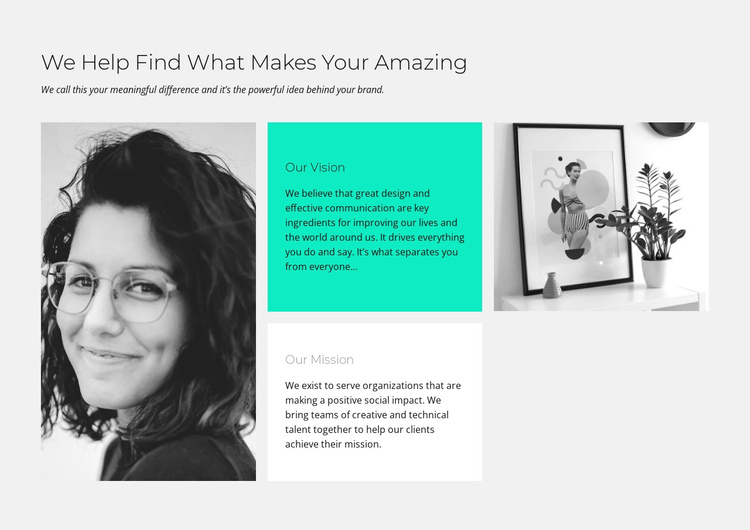 Find Makes Amazing One Page Template