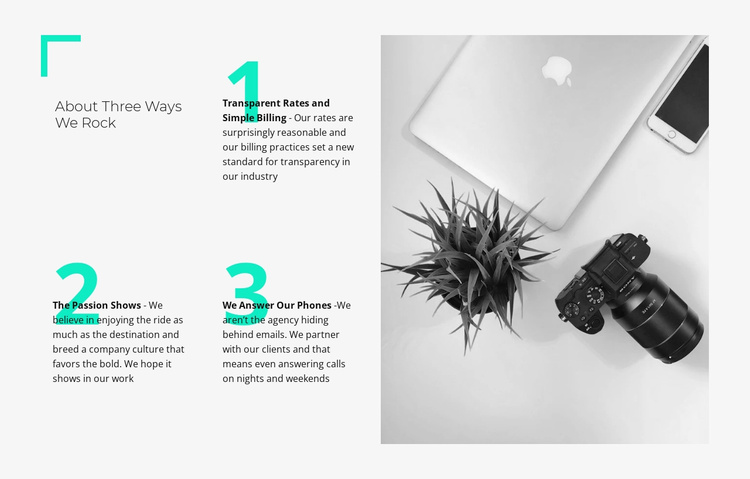 We combine strategy with design Website Template
