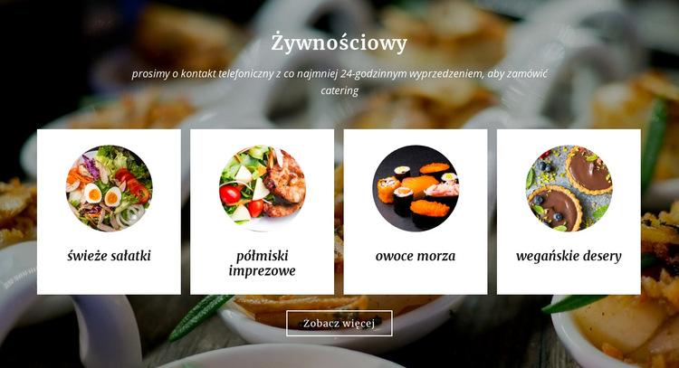 Usługi gastronomiczne i cateringowe Szablon witryny sieci Web