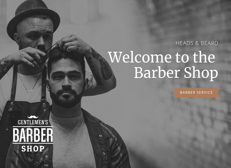 Haircuts for men Homepage Design