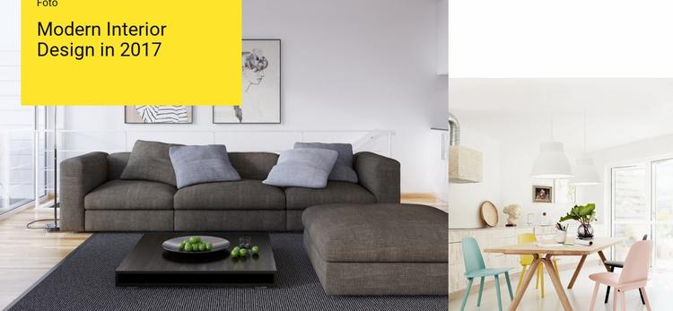 Characteristics of modern interior Website Template