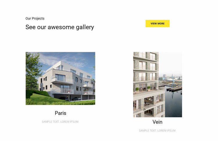 Commercial projects  Website Template