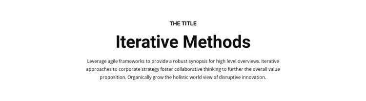 Iterative methods Html Code Example