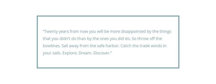 Framed quote HTML Template