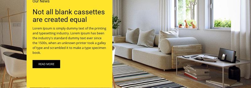 Room decor Web Page Design
