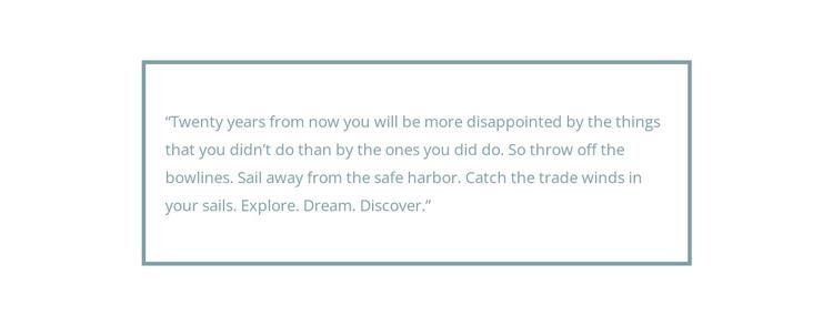 Framed quote Website Builder Software