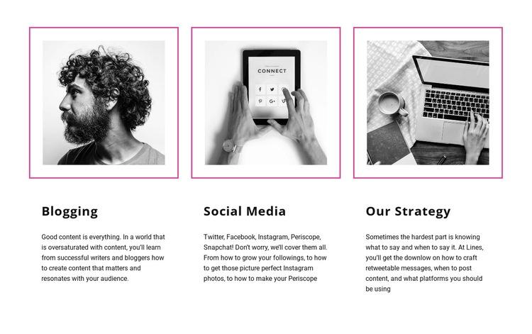 Blogging vs social media Html Code Example