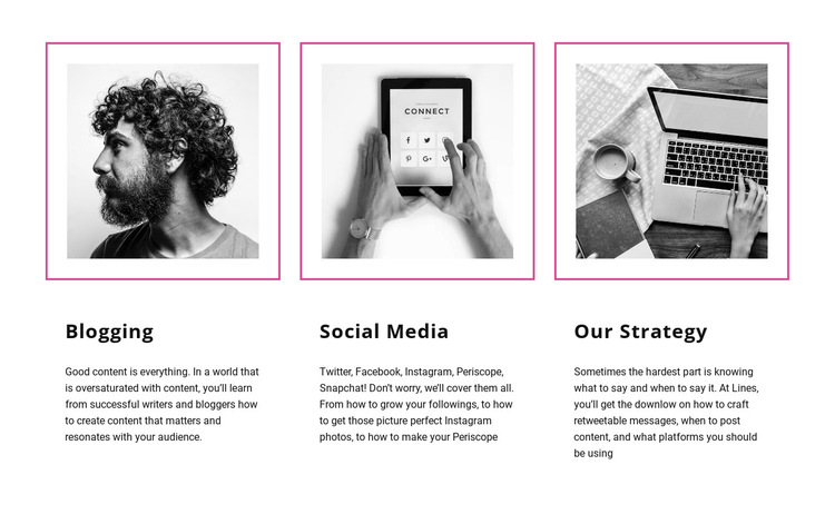 Blogging vs social media HTML5 Template