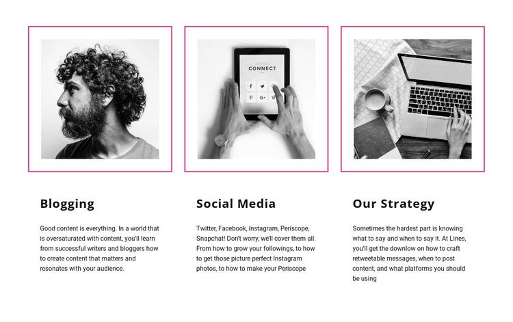 Blogging vs social media Web Design