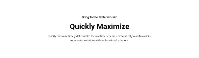 Text quickly maximize Web Page Design