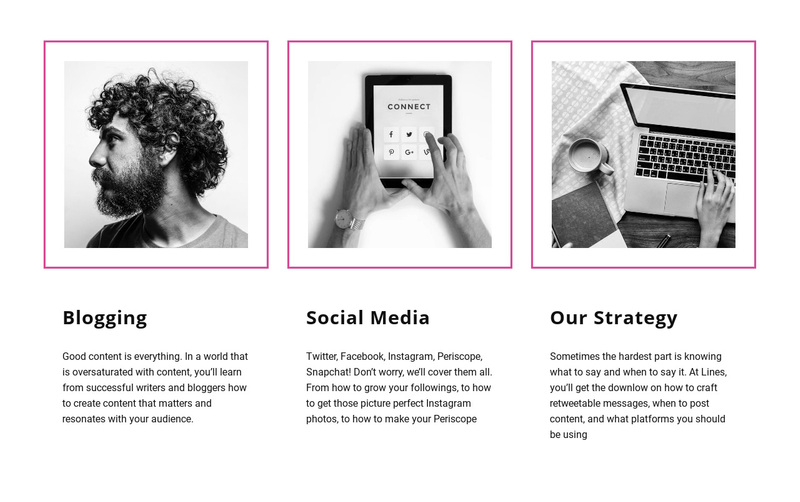Blogging vs social media Web Page Design