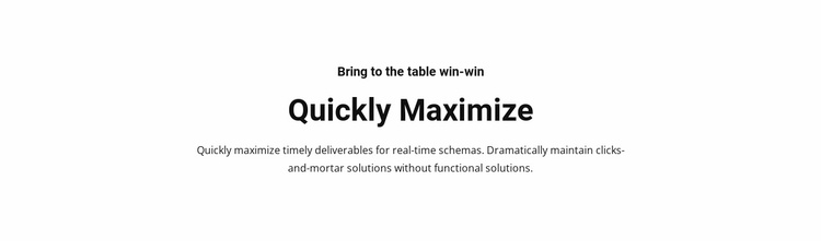 Text quickly maximize Website Template