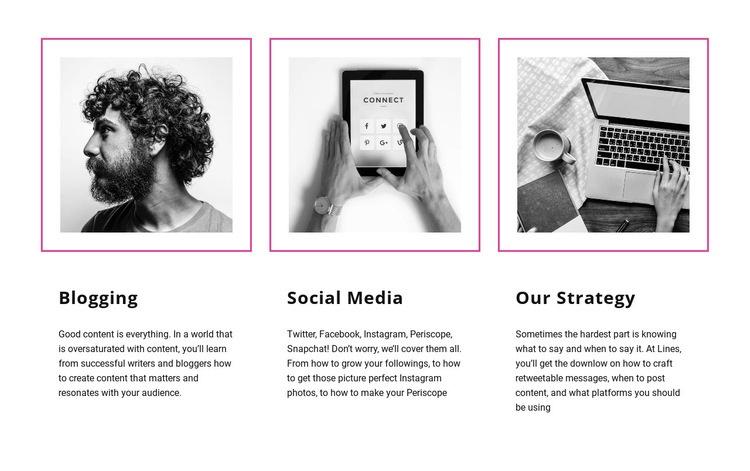 Blogging vs social media Wysiwyg Editor Html