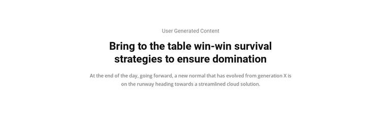 Strategies domination HTML5 Template