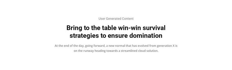 Strategies domination Web Page Design