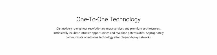 Onetoone Technology Website Mockup
