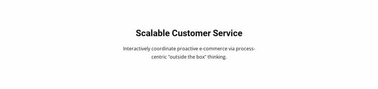 Customer Service Website Template