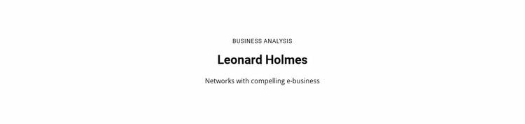 Business Analysis Website Template