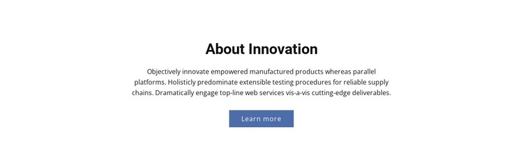 About Innovation Static Site Generator
