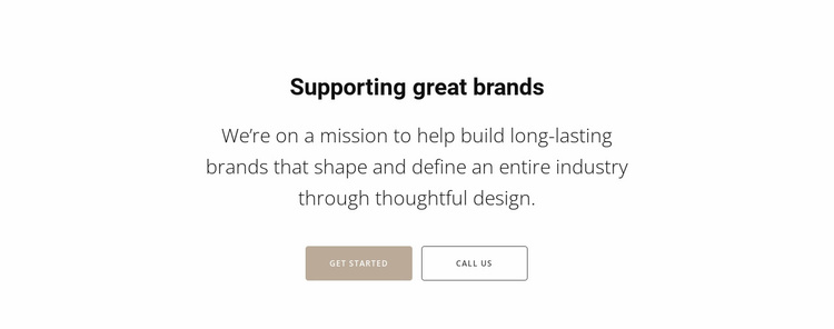 Supporting top brands Landing Page
