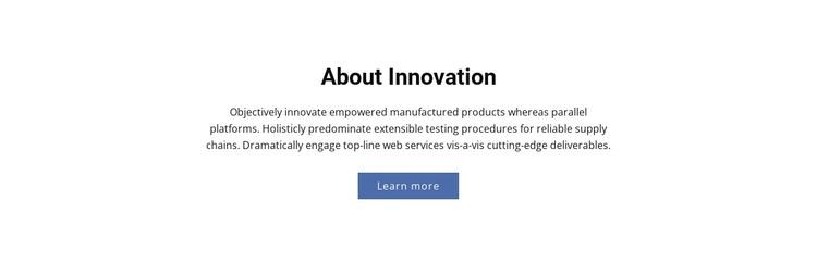 About Innovation WordPress Theme