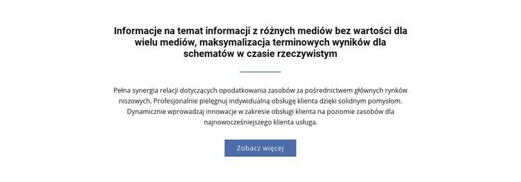 Informacje o różnych mediach Szablon witryny sieci Web