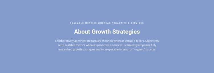 About Growth Strategies Static Site Generator