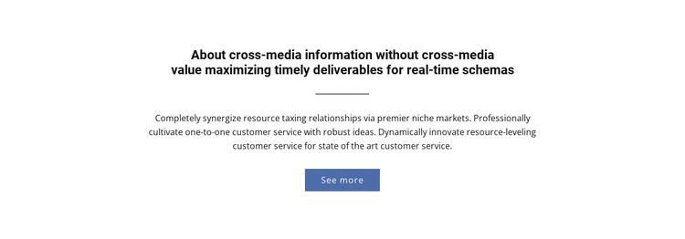 About  Cross-Media Information Web Design