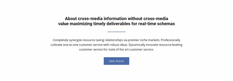 About  Cross-Media Information Web Page Design