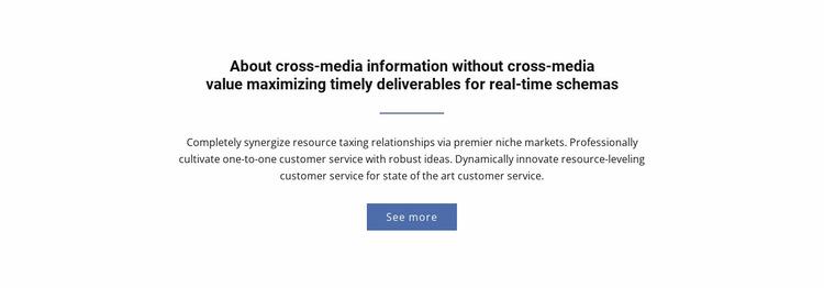 About  Cross-Media Information Website Builder Templates