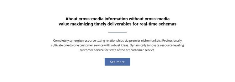 About  Cross-Media Information Website Creator