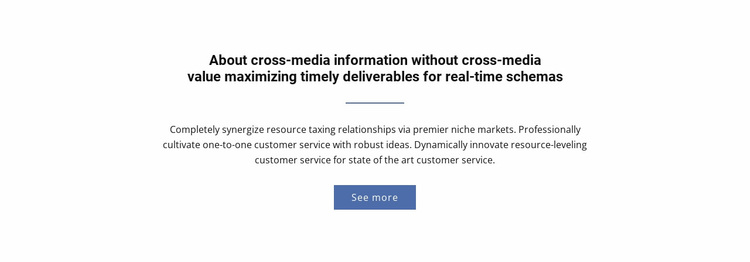 About  Cross-Media Information Website Design