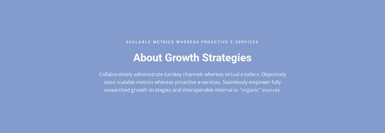 About Growth Strategies Website Mockup
